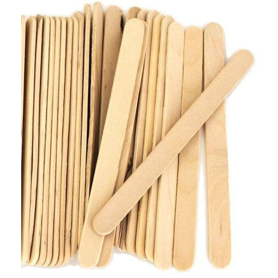 Disposables - Treated* Wooden Popsicle Sticks / Spatulas - 50 Bag