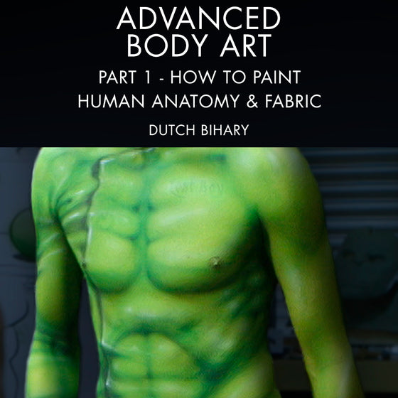 Advanced Body Art Part 1: How To Paint Human Anatomy & Fabric