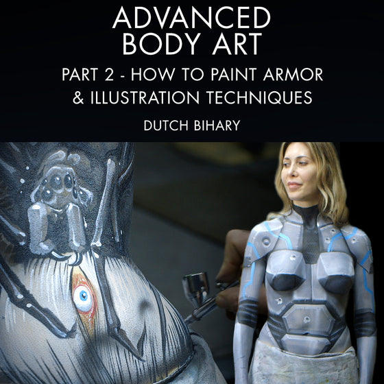 Advanced Body Art Part 2: How To Paint Armor & Illustration Techniques