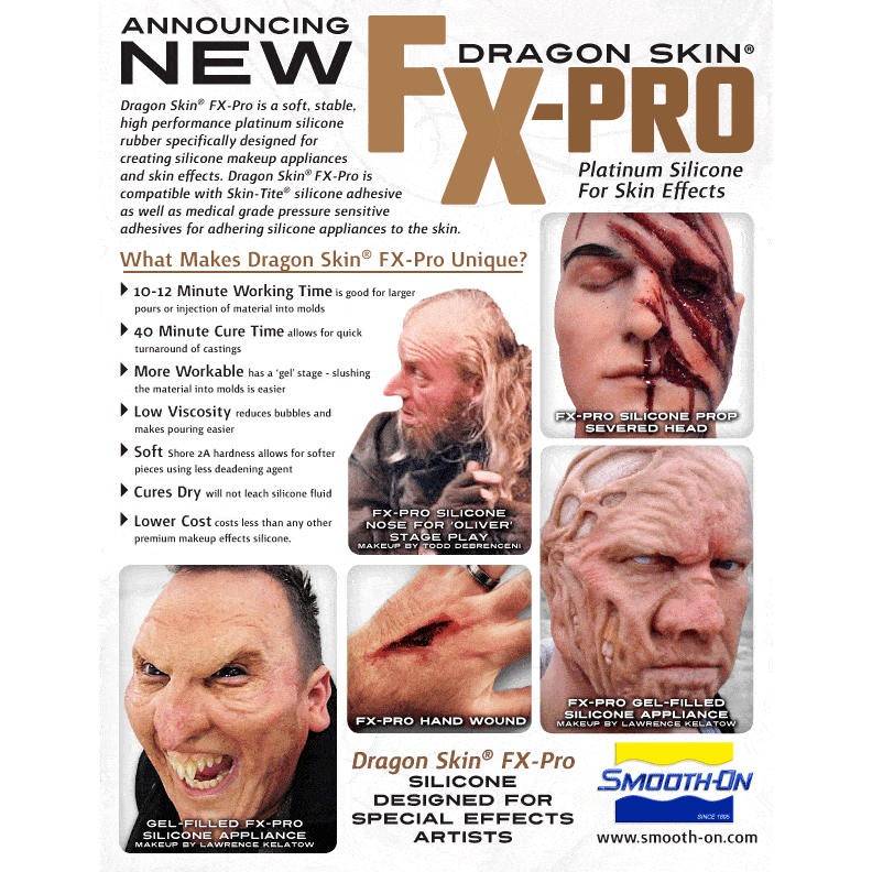 Smooth-On Dragon Skin FX-Pro - Special Effects Silicone Casting Rubber