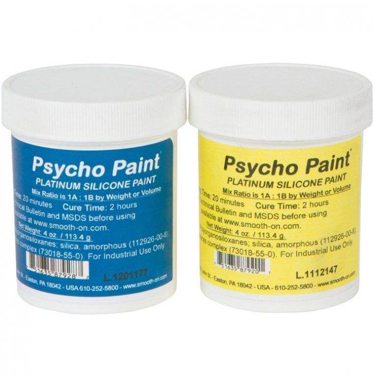 Silicone - Smooth-On Psycho Paint Platinum Silicone Paint Base - 8 Oz. Kit