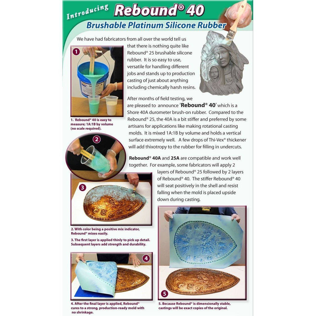 Smooth-On Rebound 25 - Self-Thickening Brushable Molding Silicone