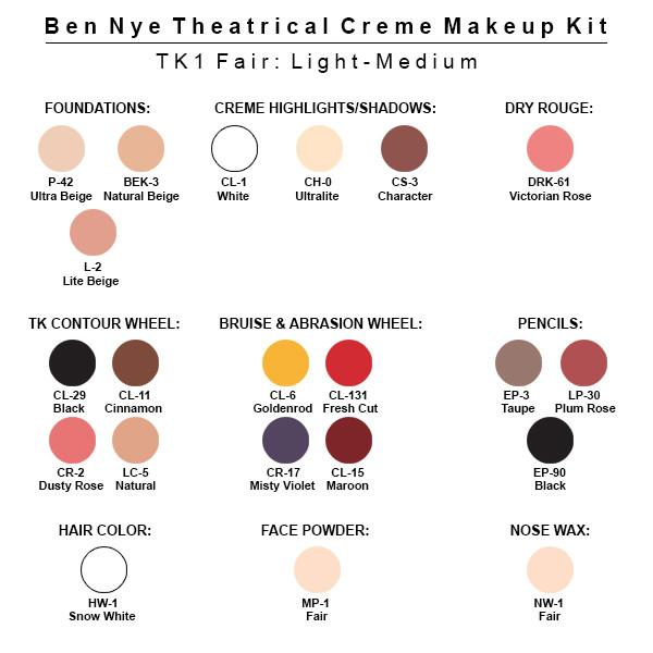 Ben Nye Theatrical Creme Makeup Kit (Large)