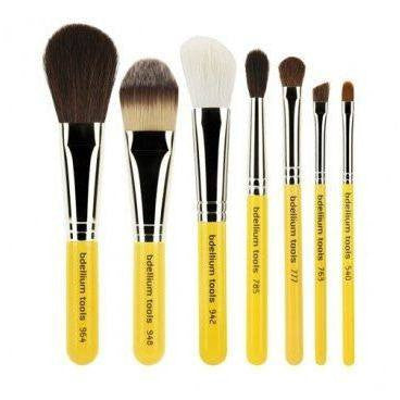 bdellium tools  basic 7 pc brush set with rollup pouch