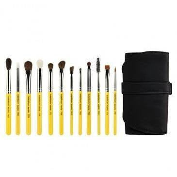 Tools - Bdellium Tools - Eyes 12 Pc. Brush Set With Roll-up Pouch