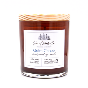 Quiet Canoe - 8 ounce Hand Poured Pure Soy Candle NEW JAR