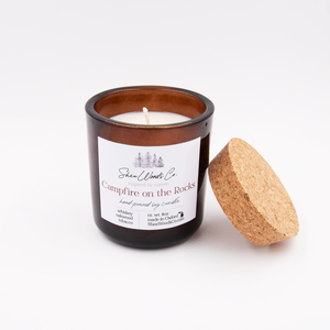 SALE - Campfire on the Rocks - 8 ounce Hand Poured Pure Soy Candle