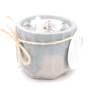 Quiet Canoe - 4 ounce Hand Poured Pure Soy Candle - Concrete