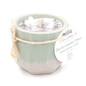 Backcountry Pine - 4 ounce Hand Poured Soy Candle - Concrete