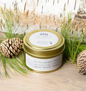 Backcountry Pine - 5 ounce Hand Poured Soy Candle - Travel Tin