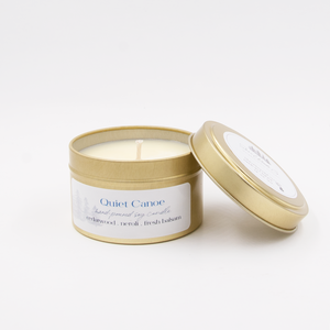 Quiet Canoe - 5 ounce Hand Poured Pure Soy Candle Travel Tin