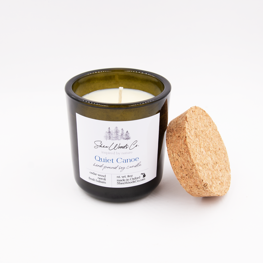 SALE - Quiet Canoe - 8 ounce Hand Poured Pure Soy Candle