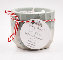 Load image into Gallery viewer, Tree Farm - Christmas Edition - 4 ounce Hand Poured Pure Soy Candle - Concrete