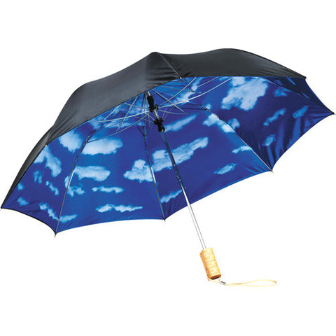 "46"" Blue Skies Auto Folding Umbrella"