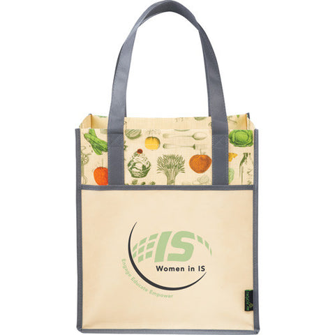 Laminated Vintage Big Grocery Tote