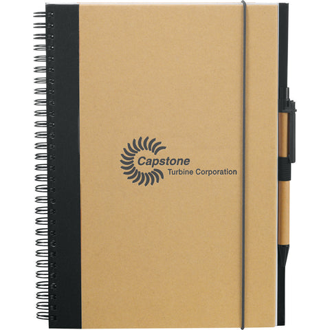 Evolution Large Recycled Spiral Journal Book