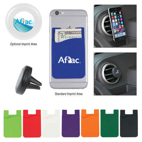 Auto Air Vent & Magnetic Phone Wallet