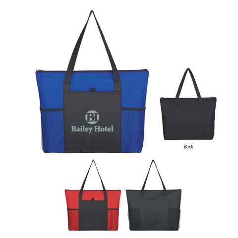 Non-Woven Voyager Zippered Tote