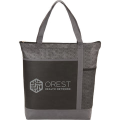 Chrome Non-Woven Zipper Convention Tote