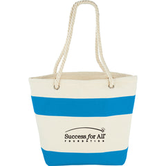 12 oz. Cotton Capri Stripes Shopper Tote