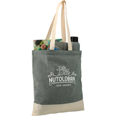 Split Recycled 5 oz Cotton Twill Convention Tote