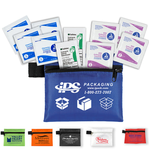 10 Piece Healthy Antiseptic Pack in Zipper Pouch