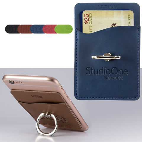 Tuscany Card Holder w/Metal Ring Phone Stand