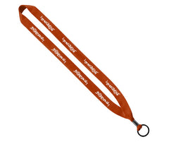 "3/4"" Polyester Lanyard with Metal Crimp & Split-Ring"