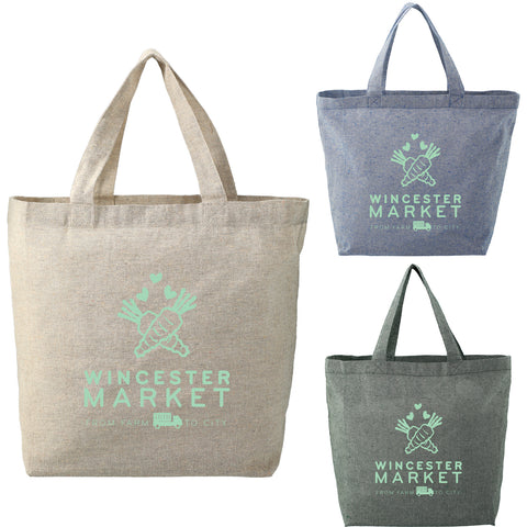 Recycled 5 oz Cotton Twill Grocery Tote