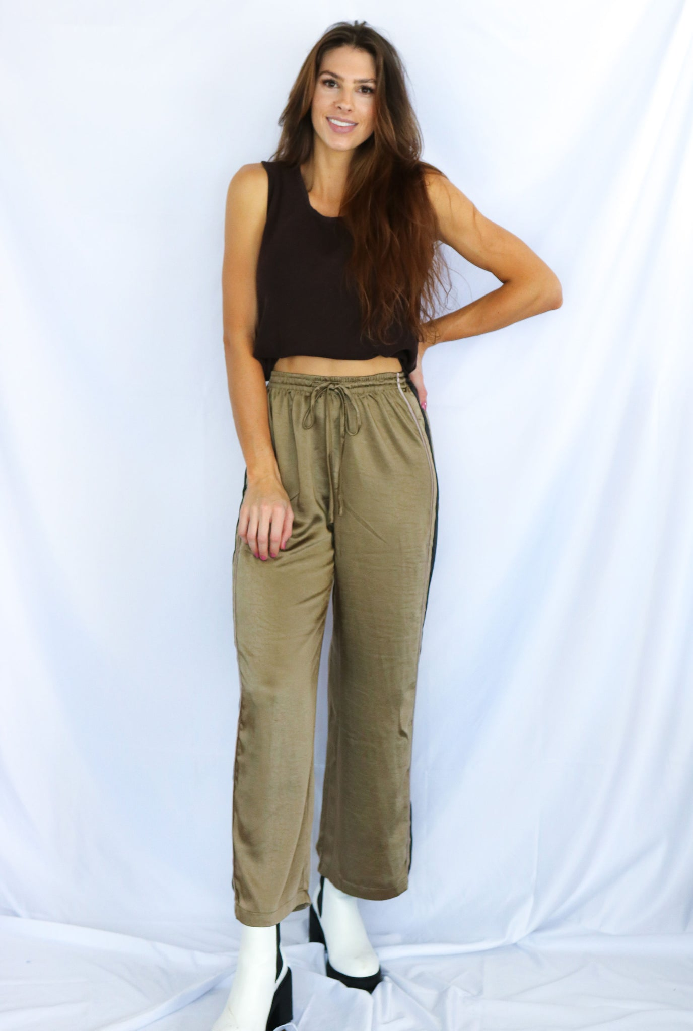 Side Stripe Detail Pants