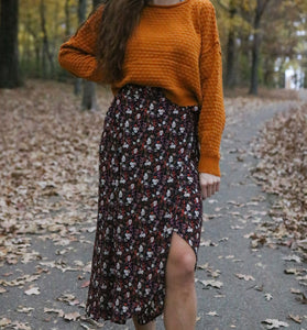 Mini Floral Print Wrap Skirt