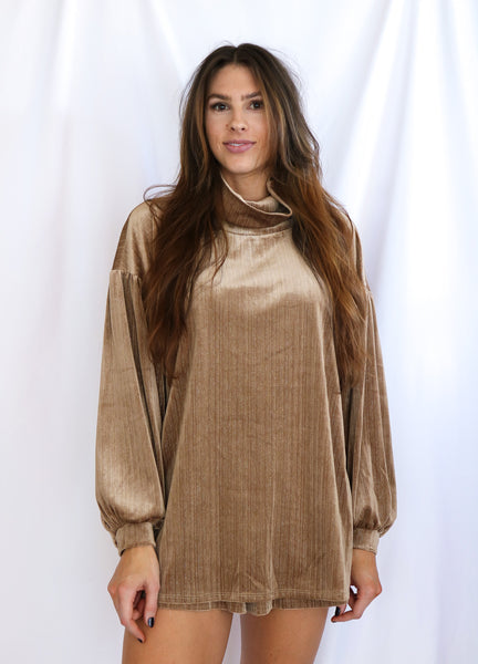 Volume Sleeve Tunic Top