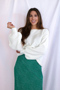 Soft Cloud Textured Pullover Sweater