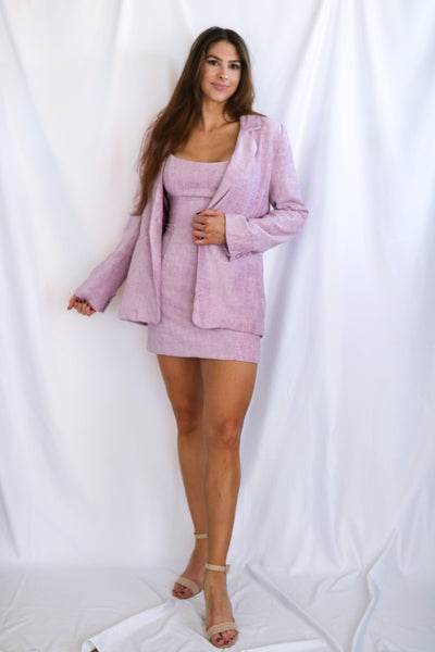 Long Sleeve One Button Jacket