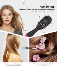 Load image into Gallery viewer, Professional 2 In 1 Hot-Air Rotating Brush Hairdryer