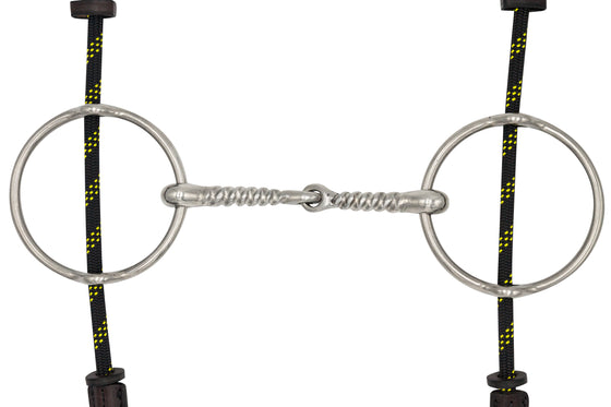 English Big Ring Gag Snaffle Corkscrew - TATO'S MALLETS