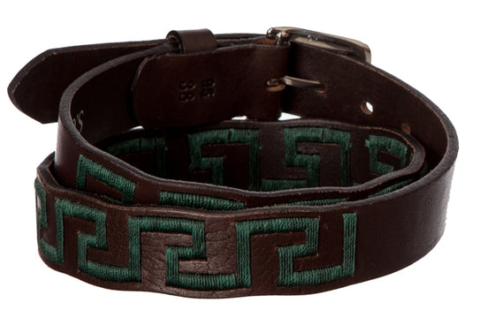 Polo Belt - Hunter Green Greek - TATO'S MALLETS
