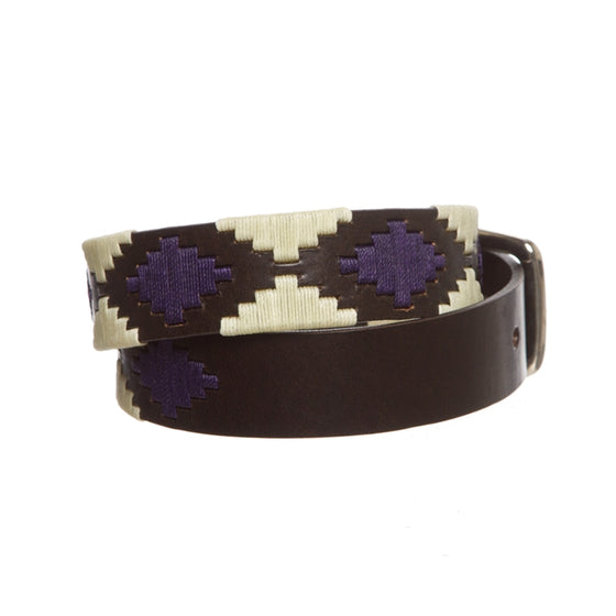 Polo Belt - Sand on Deep Purple - TATO'S MALLETS