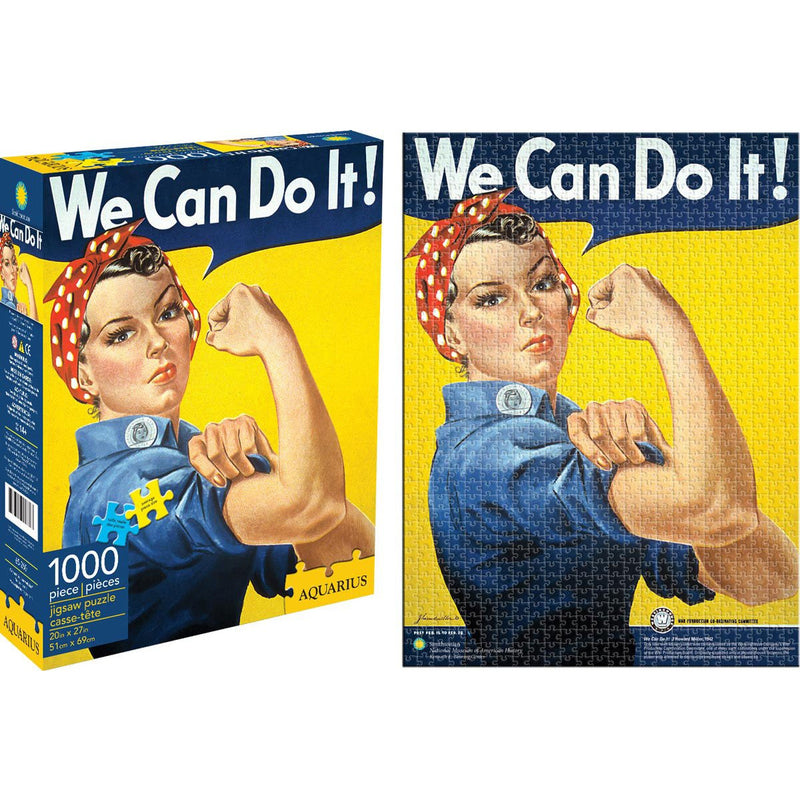Smithsonian Rosie Riveter We Can Do It Jigsaw Puzzle 1000 Pieces - Get Puzzled
