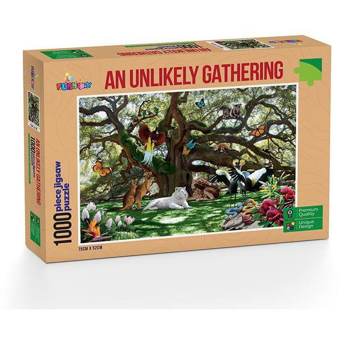 Funbox An Unlikely Gathering 1000 Piece Jigsaw Puzzle - Get Puzzled