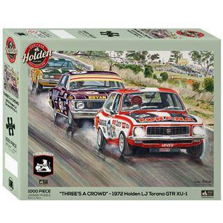 Impact Holden Three's A Crowd Mt Panorama Bathurst 1000 Piece Jigsaw Puzzle. - Get Puzzled