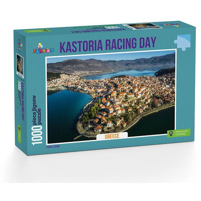 Funbox Kastoria Racing Day Greece 1000 Piece Jigsaw Puzzle - Get Puzzled