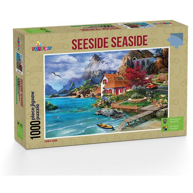 Funbox Seeside Seaside 1000 Piece Jigsaw Puzzle - Get Puzzled