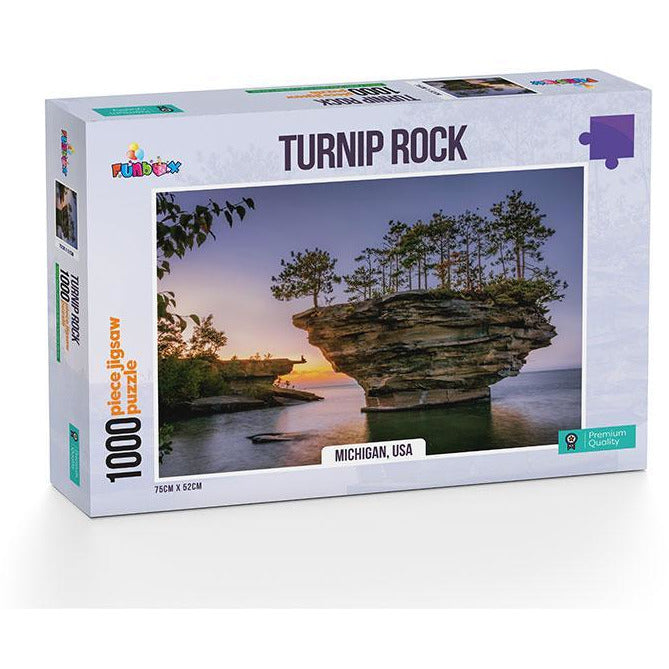 Funbox Turnip Rock Michigan USA 1000 Piece Jigsaw Puzzle - Get Puzzled