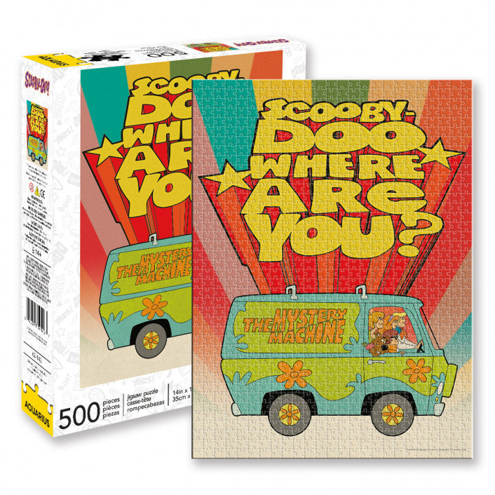 Scooby Doo Where Are You? The Mystery Machine Puzzle 500 Piece Jigsaw Puzzle - Get Puzzled