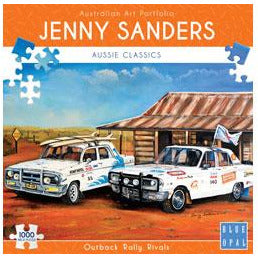 Jenny Saunders Outback Rally Rivals 1000 Piece Jigsaw Puzzle - Get Puzzled