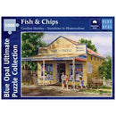 Blue Opal Gordon Hanley Fish & Chips 1000 Piece Jigsaw Puzzle - Get Puzzled