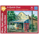 Blue Opal Gordon Hanley A Quick Chat 1000 Piece Jigsaw Puzzle - Get Puzzled