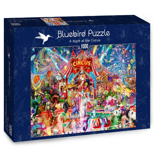 Bluebird Night at the Circus 1000 Piece Jigsaw Puzzle - Get Puzzled