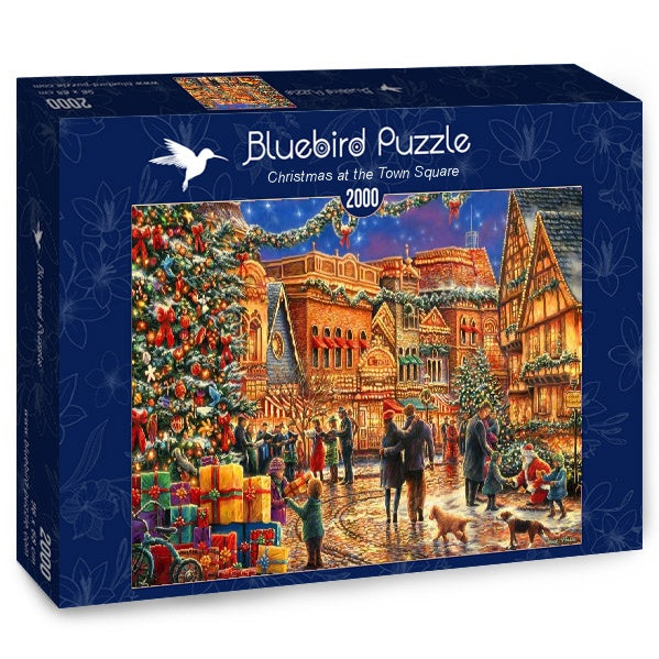 Bluebird Christmas at the Town Square 2000 Piece Jigsaw Puzzle - Get Puzzled
